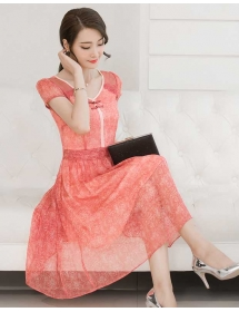 midi dress korea D3599