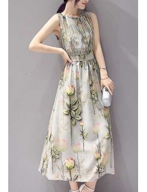 long dress chiffon D3629