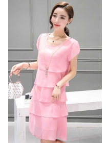dress chiffon D3642