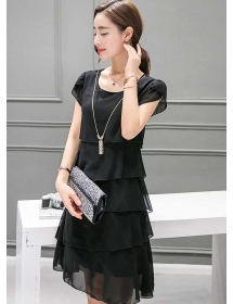 dress chiffon D3643