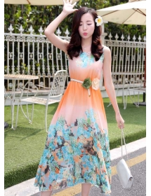 long dress chiffon D3656