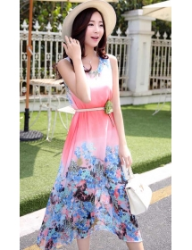 long dress chiffon D3657