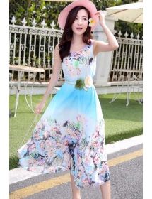 long dress chiffon D3658