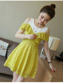 dress brukat D3673