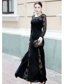 long dress brukat D3677