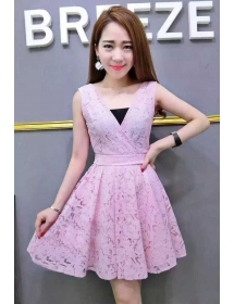 dress brukat D3704