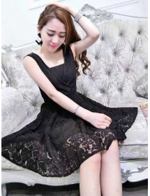 dress brukat D3705