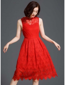 dress pesta brukat D3712