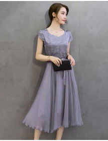 midi dress korea D3759