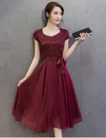 midi dress korea D3761