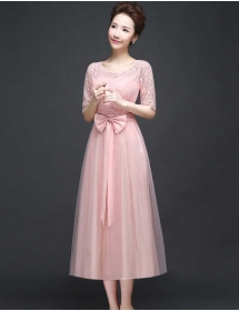 long dress brukat D3767