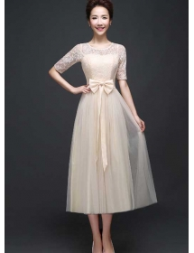 long dress brukat D3769