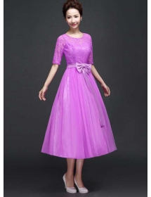 long dress brukat D3770