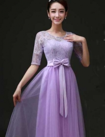 long dress brukat D3771