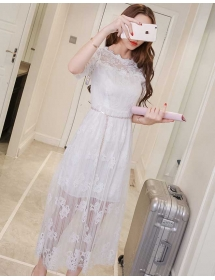 long dress brukat D3780