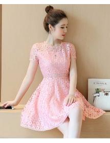 dress brukat korea D3801