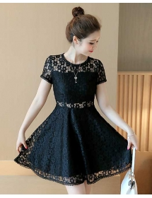 dress brukat korea D3802