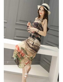 long dress chiffon D3814