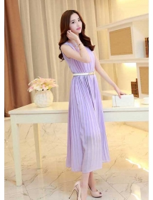 long dress chiffon D3816