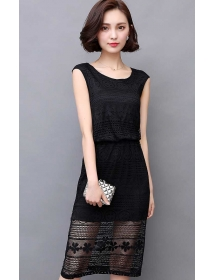 dress brukat korea D3824