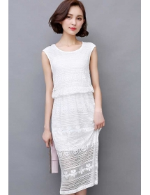 dress brukat korea D3825