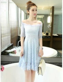 dress brukat D3843