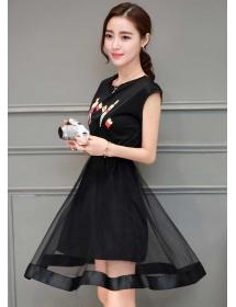 dress wanita import D3849