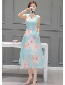 long dress motif bunga D3857
