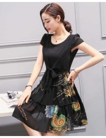 dress chiffon import D3860