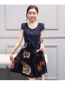 dress chiffon import D3861