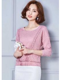 blouse brukat lengan panjang T3469