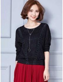 blouse brukat lengan panjang T3471