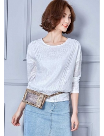 blouse brukat lengan panjang T3472