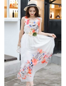 long dress chiffon D3875