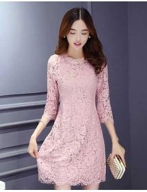 dress brukat korea D3876