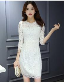dress brukat korea D3877