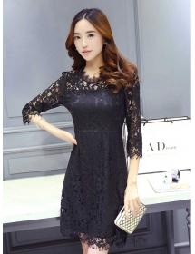 dress brukat korea D3878