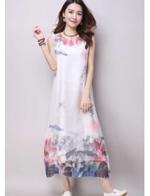 long dress chiffon D3880