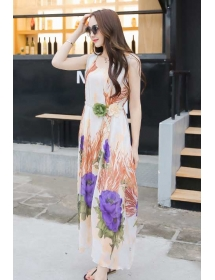 long dress chiffon D3881