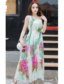long dress chiffon D3882