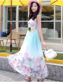 long dress chiffon D3883