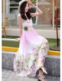 long dress chiffon D3884