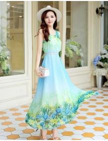 long dress chiffon D3885