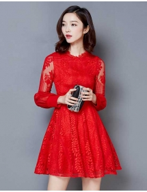 dress brukat korea D3893
