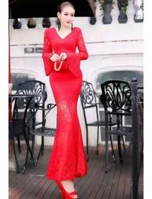 long dress brukat D3901