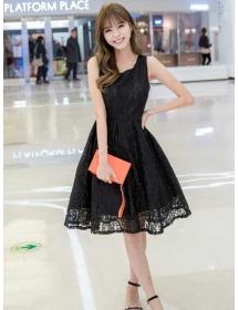 dress brukat korea D3904