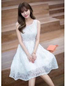 dress brukat korea D3905