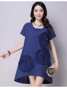 dress wanita import D3907