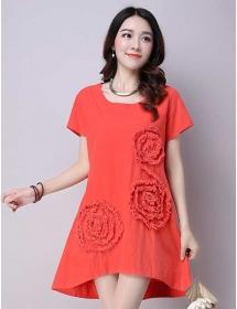 dress wanita import D3908