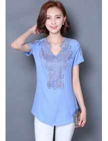 blouse wanita korea T3497